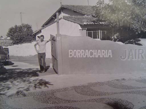 Borracharia Jair - 1974.  Situada na Av. Barão de Monte Alegre.