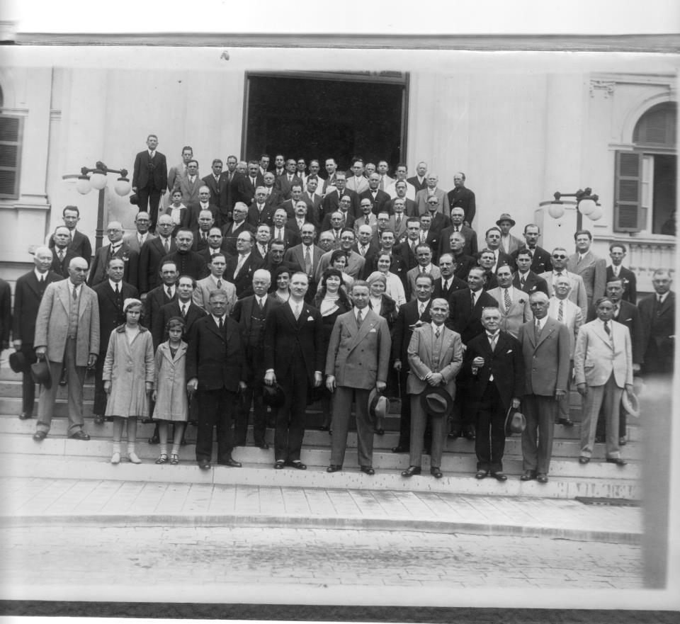 Casa de Saúde,  1938.  Visita do Consul do Benito Mussolini(Il Dulce)