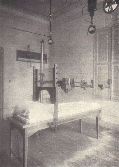 Hospital Beneficiência Portuguesa, em 1926 - sala de radioterapia