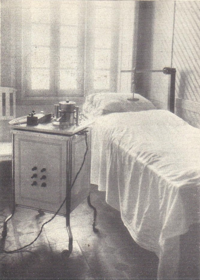 Hospital Beneficiência Portuguesa - sala de diathermia, em 1926