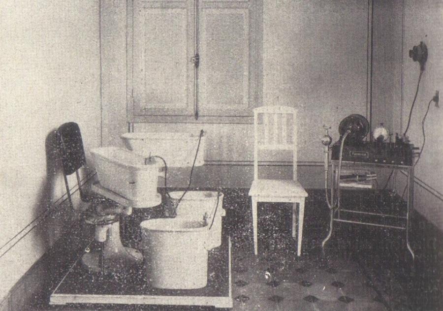 Hospital Beneficiência Portuguesa - sale de eletro, em 1926