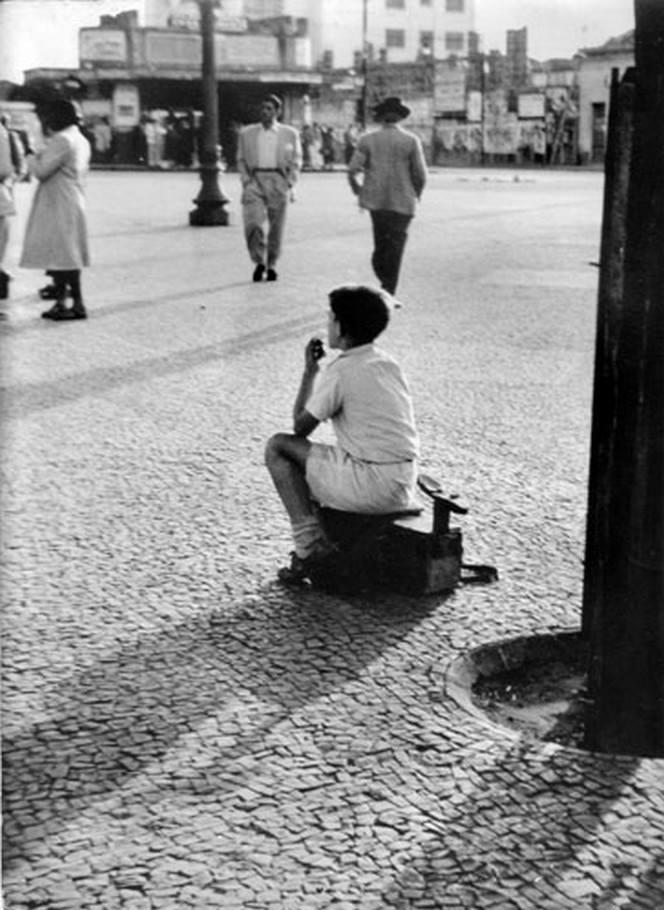 Largo do Rosário de 1948. Menino Engraxate Gilberto De Biasi
