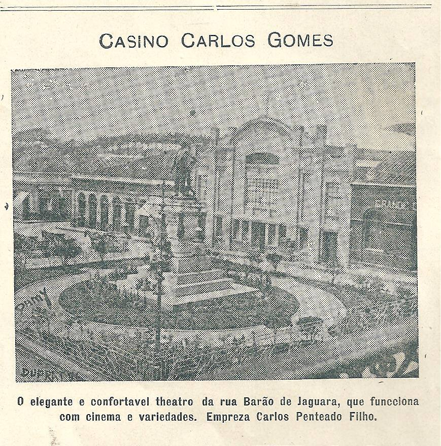 Monumento Carlos Gomes, 1915.