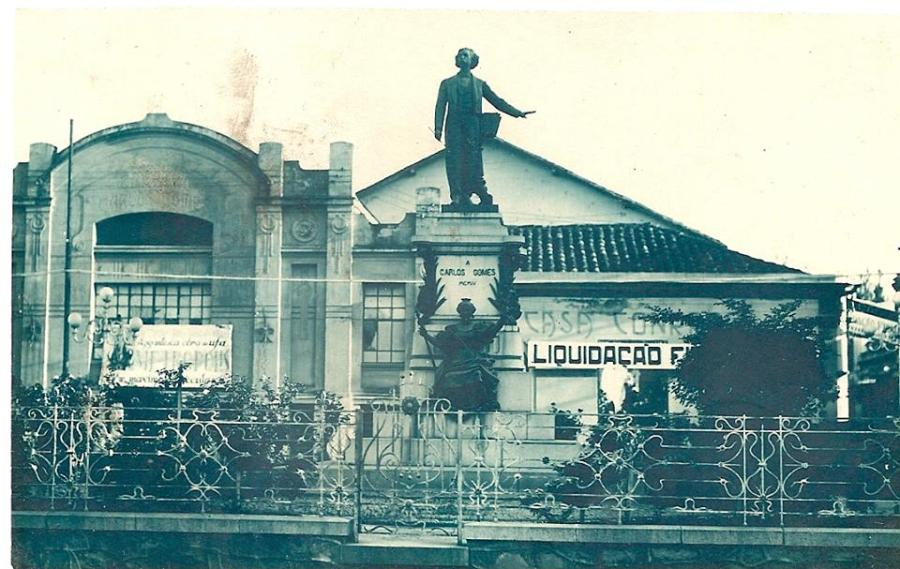 Monumento Carlos Gomes, 1905.
