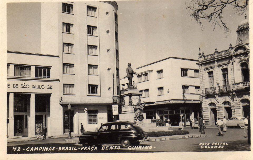 Monumento Carlos Gomes, década de 1950.