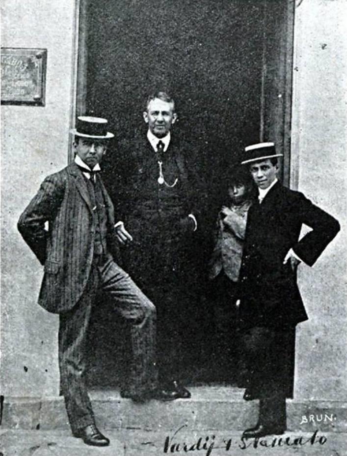 Pelágio Lobo, Antônio, ? e Nardy Filho, em 1909