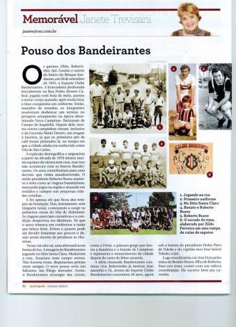 Revista Memorável O pouso dos Bandeirantes.