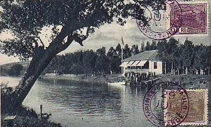 Cartão-postal do Rio Atibaia, década de 1930.