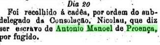 Notícia de 1877.
