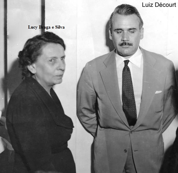 Lucy Braga e Silva e Luiz Décourt.