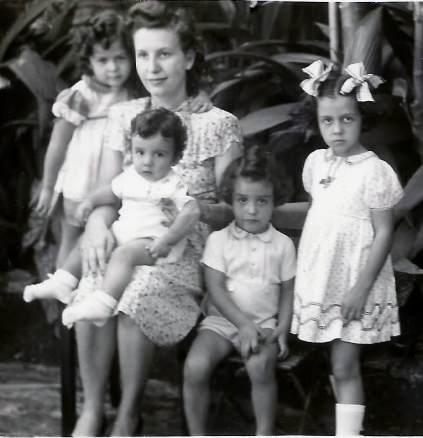 Sonia, Jessy(Marcos, no colo), Jairo Filho e Vera Lígia.