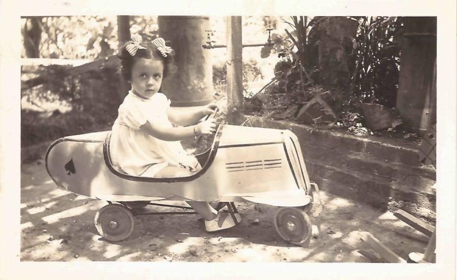 Vera Lígia, e seu carro