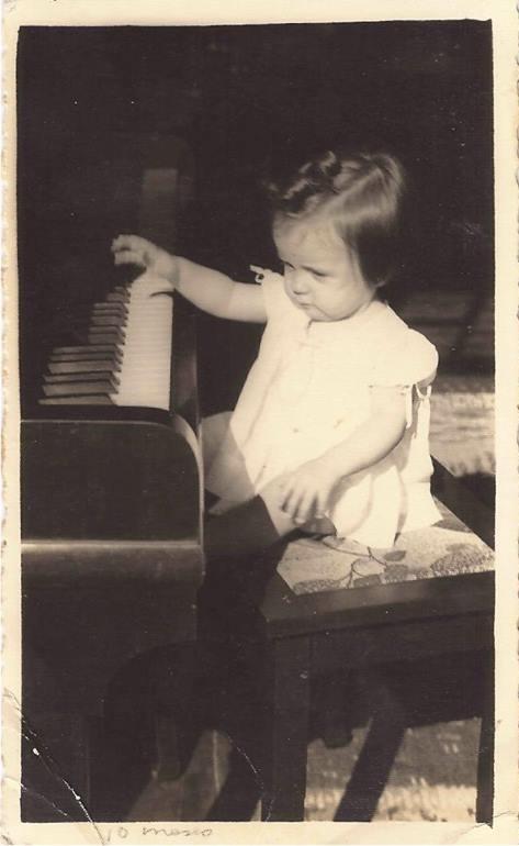 Vera Lígia, com 10 meses.