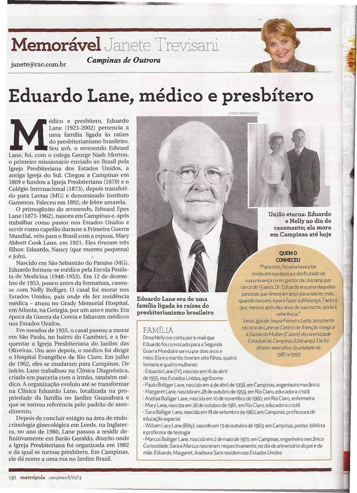 Coluna Memorável -Revista Metrópole 06.10.2013