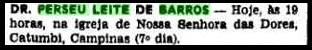 09.10.1980, Missa de Sétimo Dia.