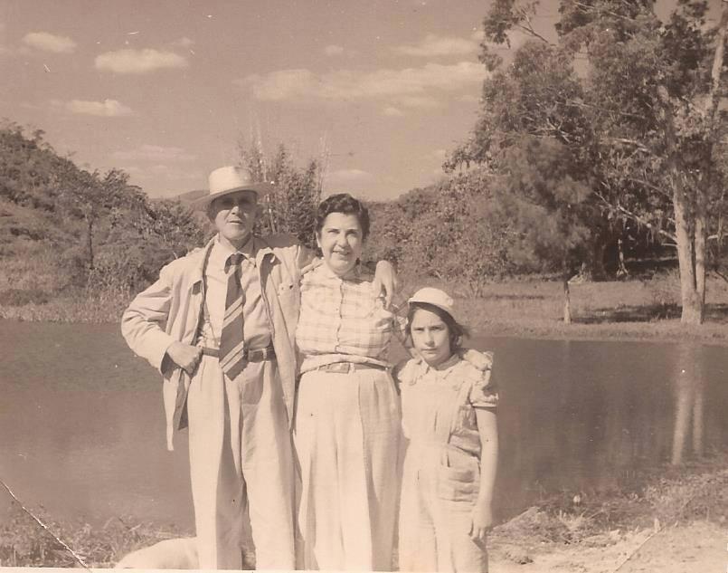 Perseu, Francisca e Maria Matilde Leite de Barros. Acervo