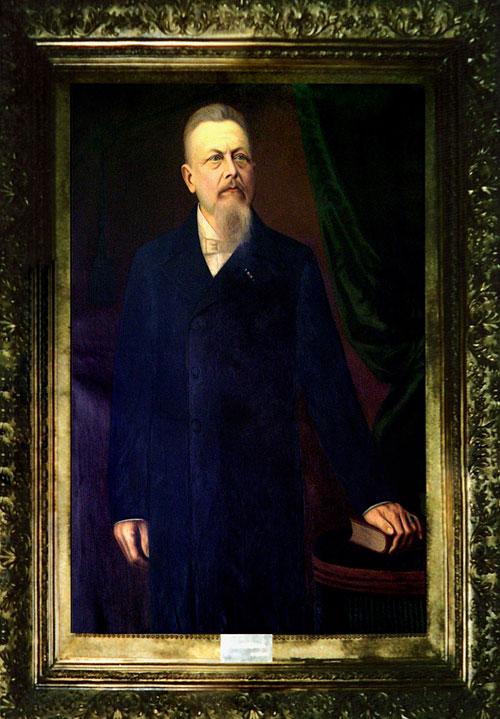 Retrato a óleo, em tamanho natural, foi feito em homenagem ao benemérito Dr. Germano Melchert e está no salão nobre do hospital Beneficência Portuguesa de Campinas.