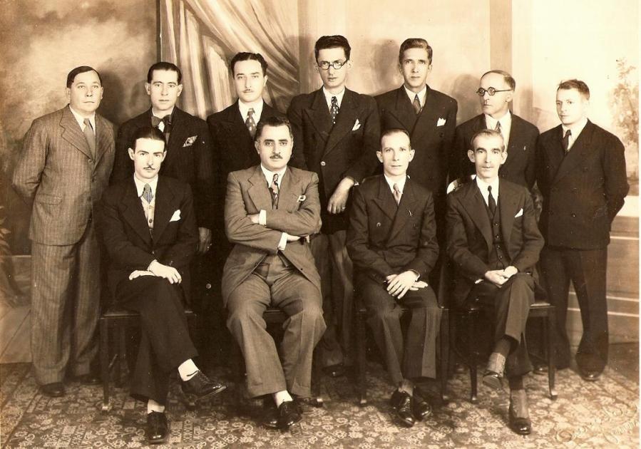 Liga Campineira de Futebol, em 1935. Foto: Stúdio Eurydes Fernandes.