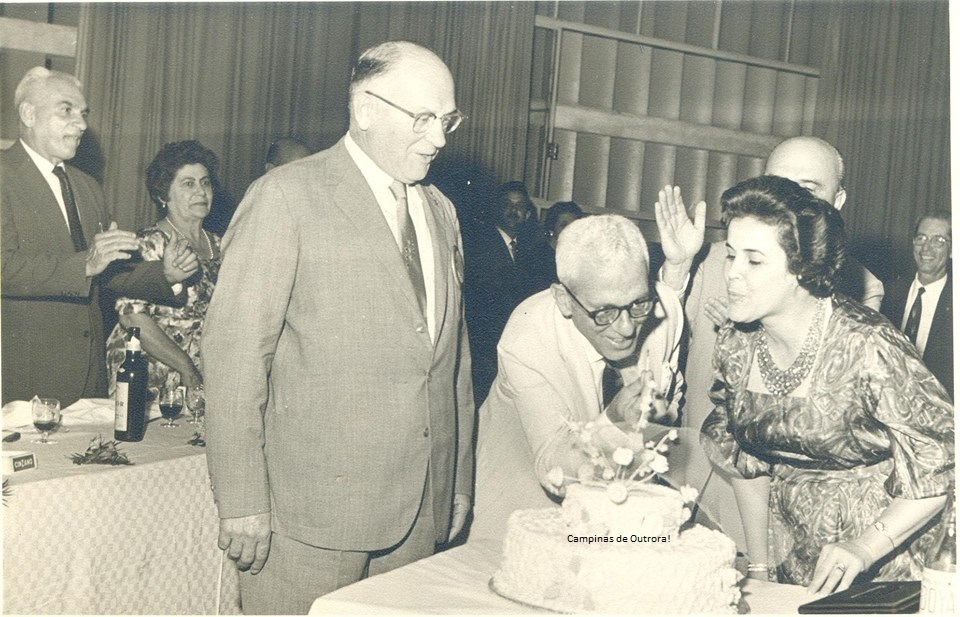 Francisco Sanchez, Álvaro Cotomacci, Odette Amaral Sanchez e Isidro Gargantini, em 25.08.1961. Acervo