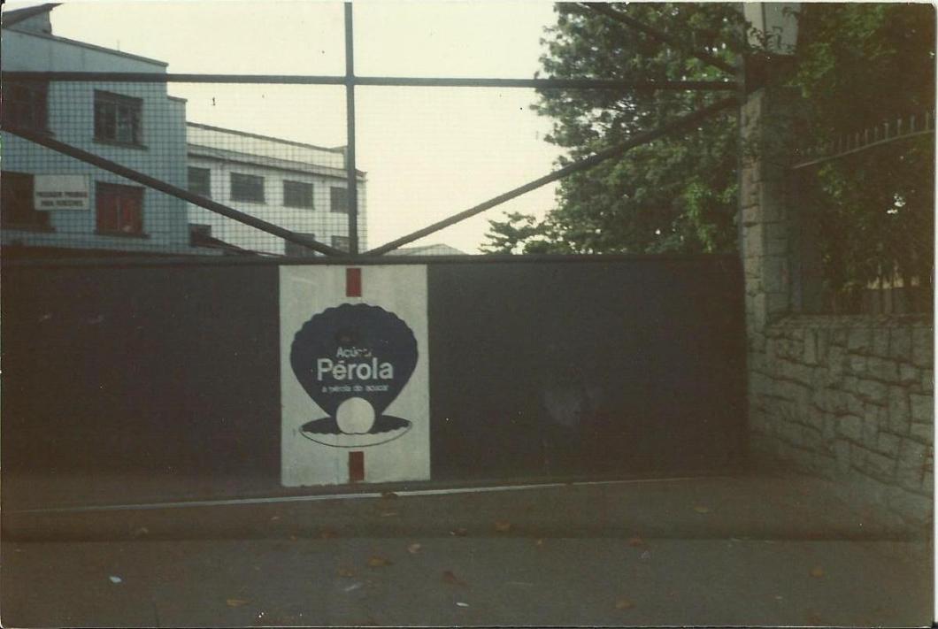 açúcar pérola- portão de entrada da refinaria de Campinas. tirada em 05.02.1988 Ricardo Souza