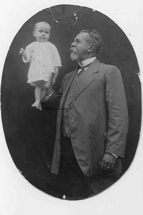 Antonio Benedicto de Castro Mendes e seu neto, João Baptista Mendes Pupo Nogueira. Acervo