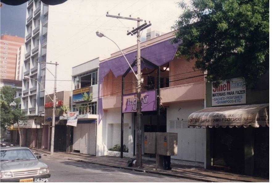 Rua Thomaz Alves, em 1995.