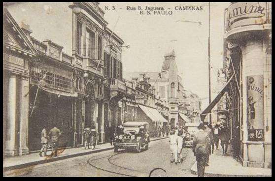 Rua Barão de Jaguara, na década de 1930.