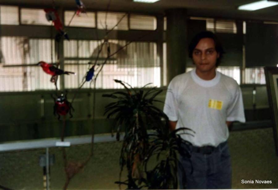 Luiz Torres,na primeira exposição que fez na Agencia Centro do Banco do Brasil.